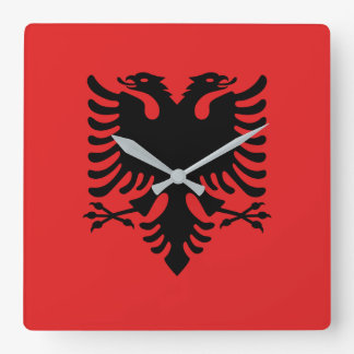 Albania National World Flag Square Wall Clock