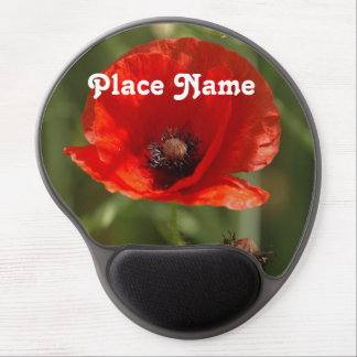 Albania Poppy Gel Mouse Pad