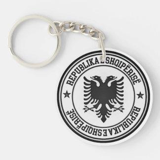 Albania Round Emblem Key Ring