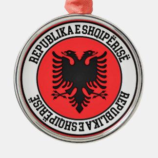 Albania Round Emblem Metal Ornament