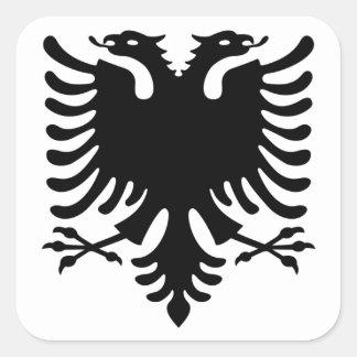 Albania, Shqiperia, Shqiponja, albanian, shqip Square Sticker