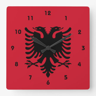 albania square wall clock