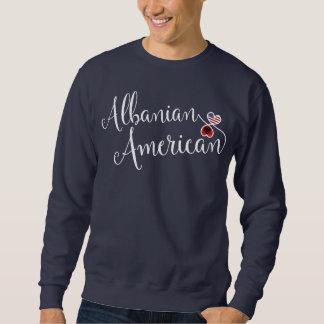 Albanian American Entwinted Hearts Sweatshirt. Sweatshirt