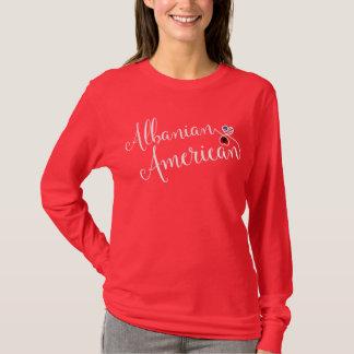 Albanian American Entwinted Hearts Tee Shirt