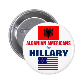 Albanian Americans for Hillary 2016 6 Cm Round Badge