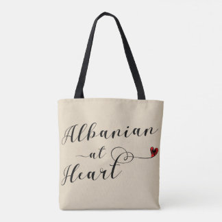 Albanian At Heart Grocery Bag, Albania Tote Bag