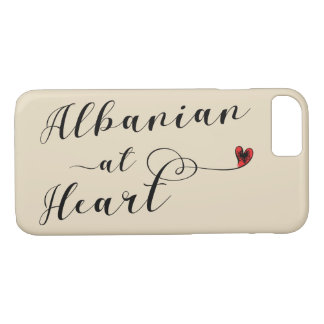 Albanian At Heart Mobile Phone Case, Albania iPhone 8/7 Case