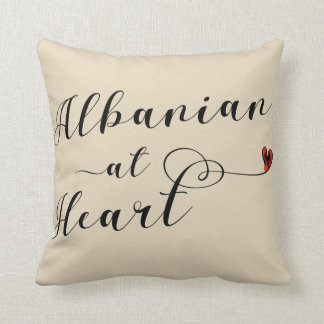 Albanian At Heart Throw Cushion, Albania Cushion