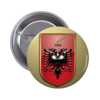 Albanian Coat of arms 6 Cm Round Badge