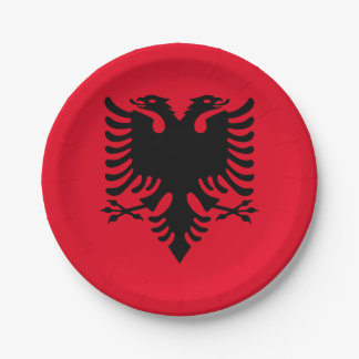 Albanian Coat of arms 7 Inch Paper Plate
