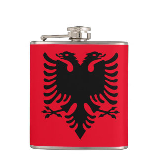 Albanian Coat of arms Hip Flask