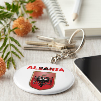 Albanian Coat of arms Key Ring