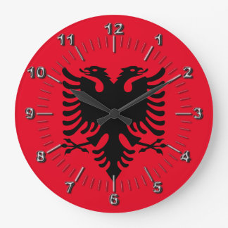 Albanian Coat of arms Large Clock