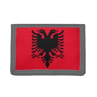 Albanian Coat of arms Tri-fold Wallets