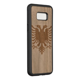 Albanian Eagle Carved Samsung Galaxy S8+ Case