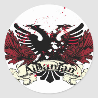 albanian eagle classic round sticker