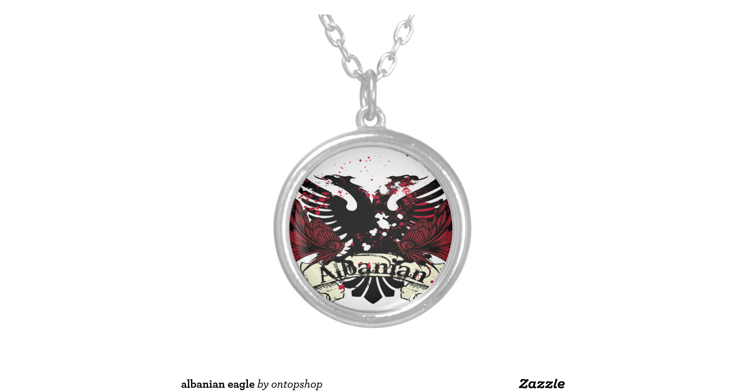 albanian eagle pendant necklace zazzle