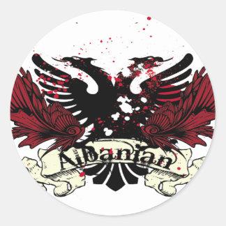 albanian eagle round sticker
