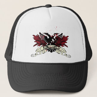 albanian eagle trucker hat