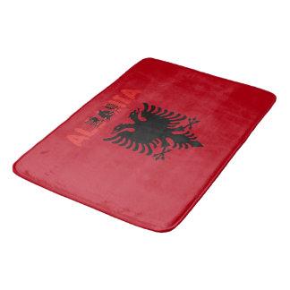 Albanian flag bath mat