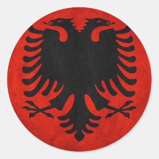Albanian Flag Classic Round Sticker