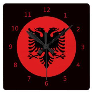 Albanian flag clocks