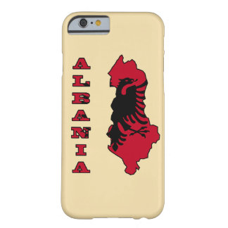 Albanian Flag in Outline Map of Albania Barely There iPhone 6 Case