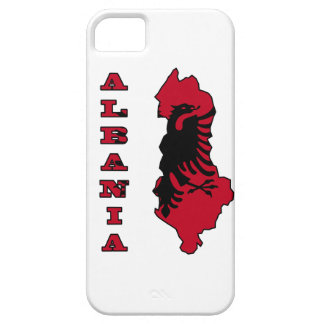 Albanian Flag in Outline Map of Albania Case For The iPhone 5