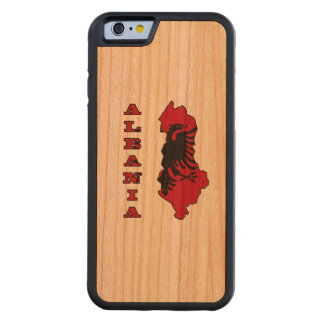 Albanian Flag in Outline Map of Albania Cherry iPhone 6 Bumper