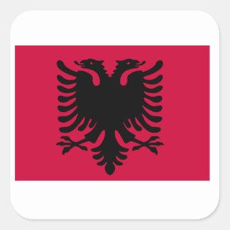 Albanian Flag Square Sticker