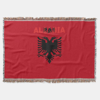 Albanian flag throw blanket
