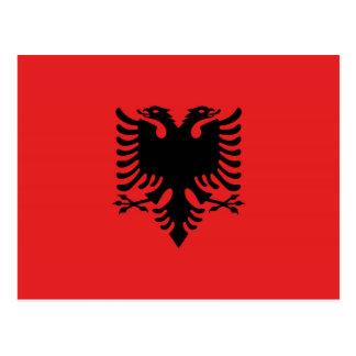 Albanian flag with two-headed eagle postcard
