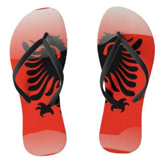 Albanian glossy flag thongs