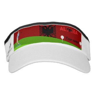 Albanian golfer visor