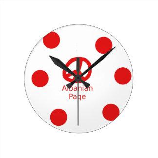 Albanian Peace Symbol Design Round Clock