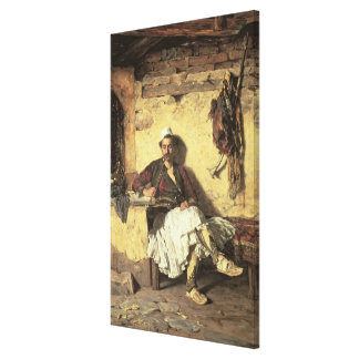 Albanian Sentinel Resting (Arnaueti) (oil on canva Canvas Print