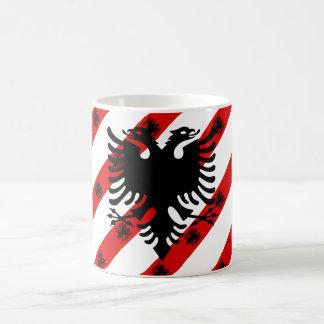 Albanian stripes flag coffee mug