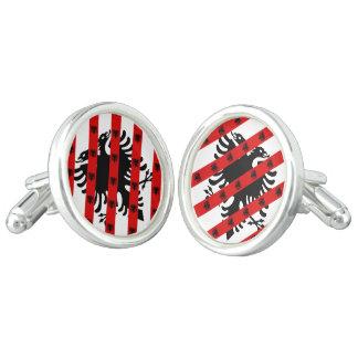 Albanian stripes flag cuff links