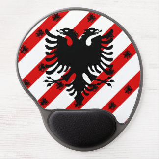 Albanian stripes flag gel mouse pad