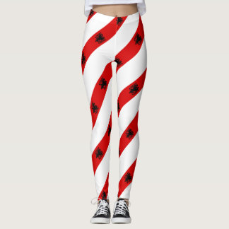 Albanian stripes flag leggings