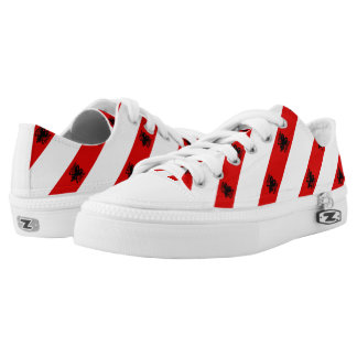 Albanian stripes flag low tops