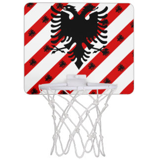 Albanian stripes flag mini basketball hoop
