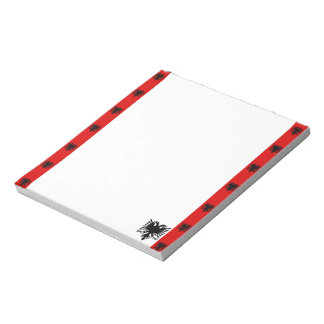 Albanian stripes flag notepad