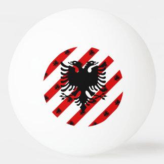Albanian stripes flag ping pong ball