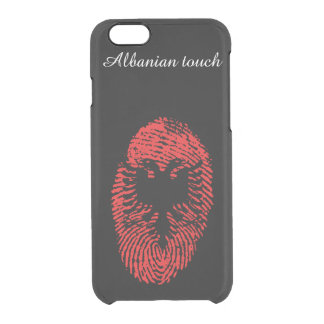 Albanian touch fingerprint flag clear iPhone 6/6S case