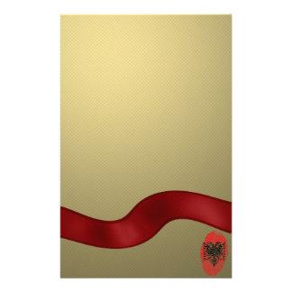 Albanian touch fingerprint flag customised stationery