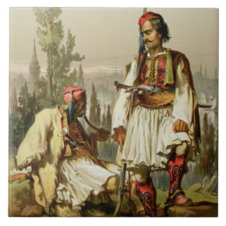 Albanians, mercenaries in the Ottoman army, pub. b Ceramic Tile