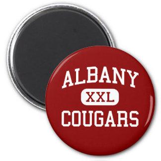 Albany - Cougars - High - Berkeley California 6 Cm Round Magnet
