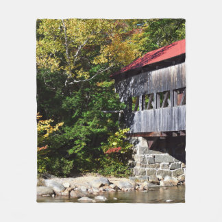 Albany Covered Bridge End Fleece Blanket