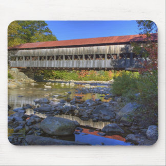 Albany covered bridge over Swift River, White Mouse Pad